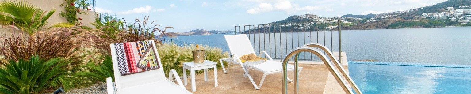 Bali Bodrum Luxury Holiday Villa for rent with private beach access