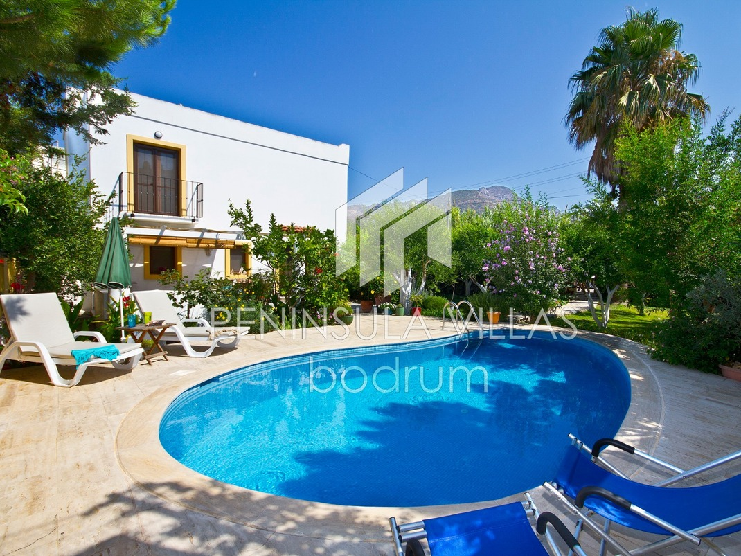 Hidden Garden Villa for rent in Turgutreis, Bodrum Turkey, pool